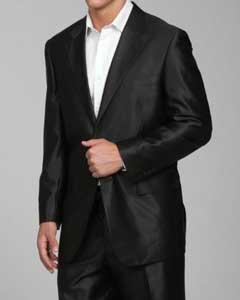 Shiny Black 2 Button Suit