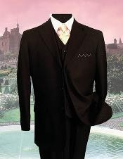 Three Button Black Suit