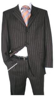 Three Button Black Wool Suit