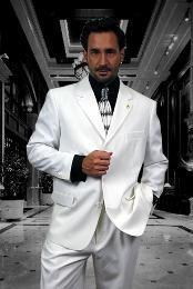 Solid Plain White Suit