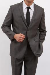Two Button Dark Black Suit
