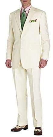 Two Button Off White Suit