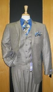 Two Button Taupe Color Suit
