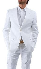 Two Button White Suit