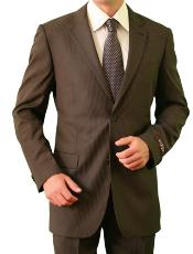 Two Buttons Brown Suit
