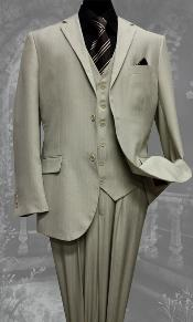 Two Buttons Sand Color Suit