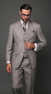 Two Buttons Tan Suit