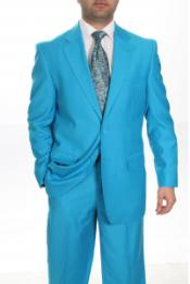 Two Buttons Turquoise Color Suit