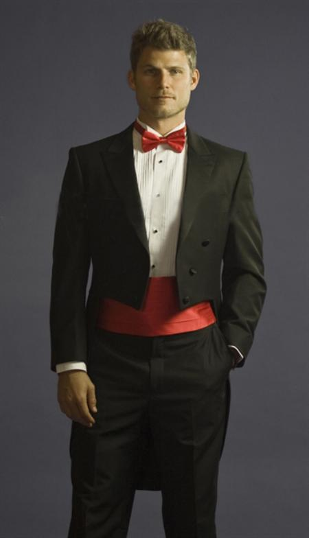Tuxedo With Tails Center Vented And Flat Front Pants Dark Co