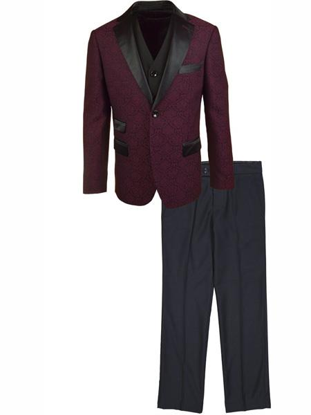 Two Burgundy Suit