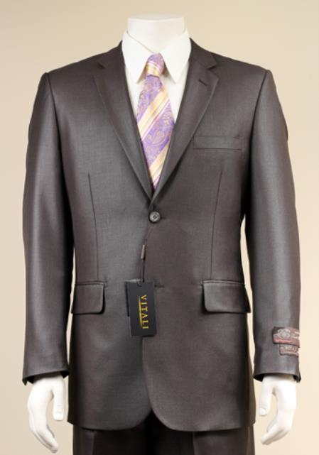 Two Button Charcoal Color Suit