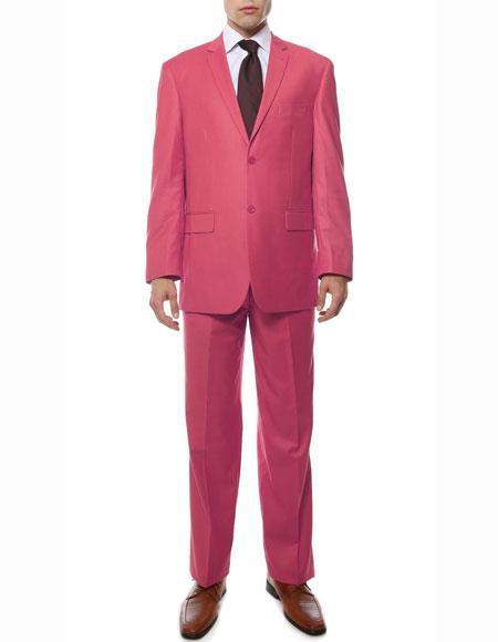 Two Button Fuchsia Color Suit