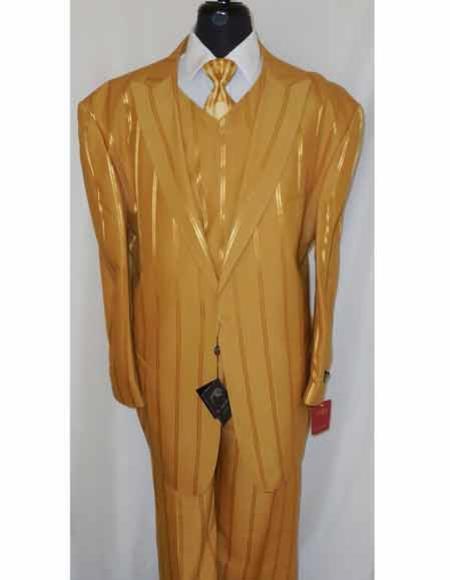 Two Button Gold Color Suit