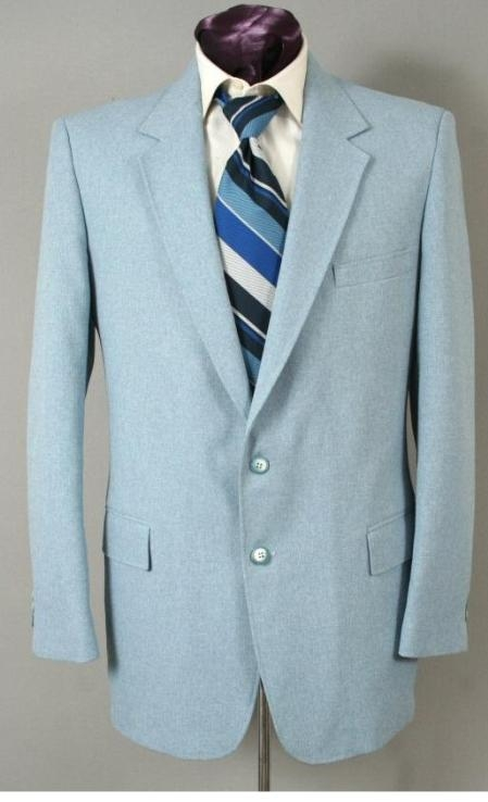 Two Button Suit - Light Blue ~ baby blue (Baby Blue)