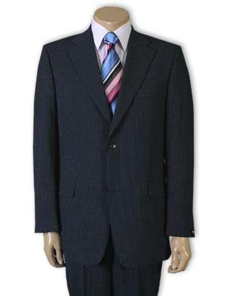 Two Button Navy Blue Suit