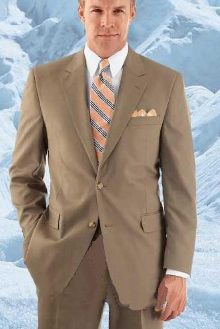 Two Button Tan Suit