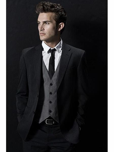 Two On Wool Black Suit 39370 Jpg
