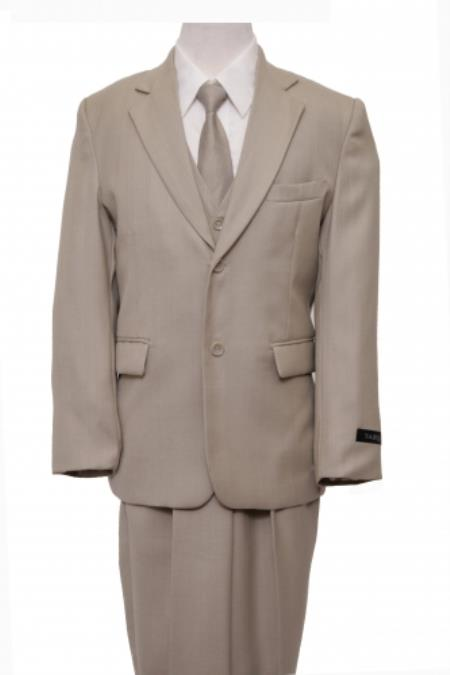 Beige Boys Suit