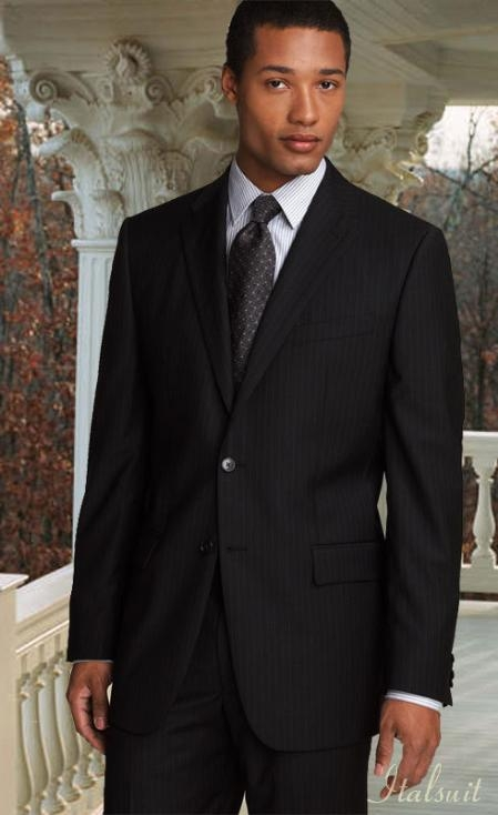 Mens Business Suits : How To Pull off a Pinstripe Suit for Men
