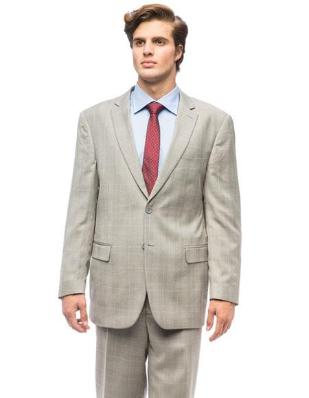 Two Buttons Gray Color Suits