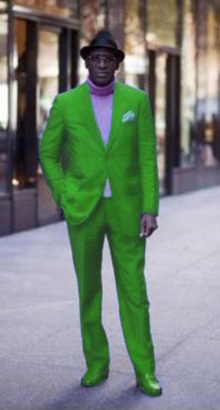 Lime Green & Mint Suits, Neon Green Tuxedo, Green Blazers