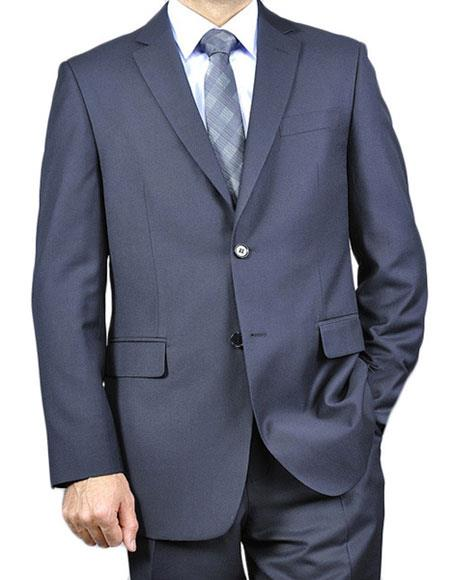 Two Buttons Navy Color Suits