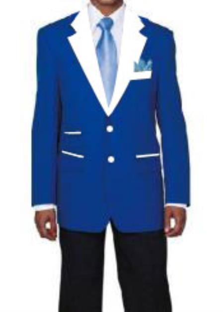 Two Buttons Royal Blue Blazer