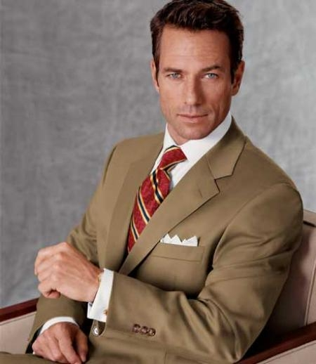 English Tan ~ Beige/Bronz Two buttons crafted professionally Italian Fabric Clearance Reduced Price Suits for Men