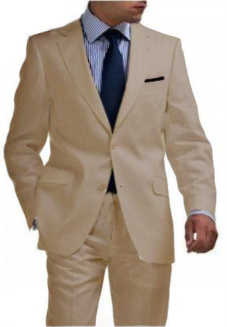 Buttons Tan Suit