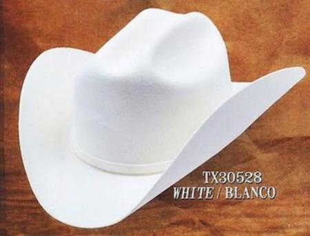 Mens White 4X Felt Western Hat 6b2fe55cc1b9