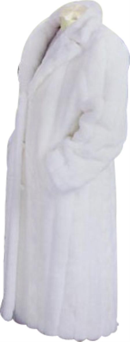 Faux Fur White Coat