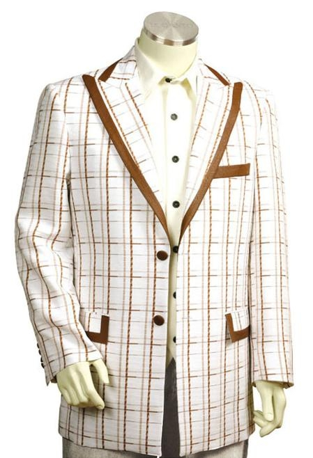 1960s Mens Suits | 70s Mens Disco Suits Exclusive White Pinstripe Fashion Zoot Suit White Coffee $171.00 AT vintagedancer.com