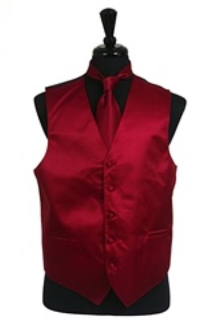 Wine Color Vest