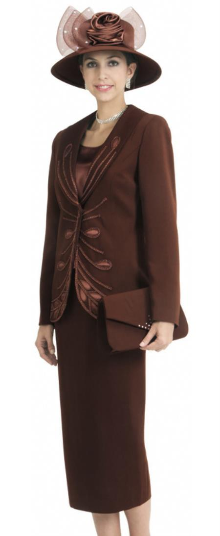 1920s Mens Suits | Gatsby, Gangster, Peaky Blinders Womens 3 Piece Dress Combo Coco Chocolate brown $140.00 AT vintagedancer.com