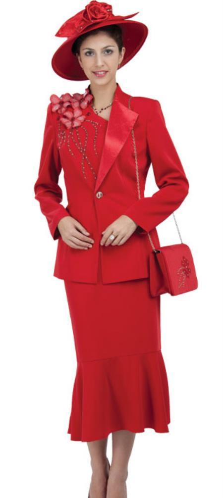 Vintage Suits Women | Work Wear & Office Wear Womens Dress Combo red pastel color $140.00 AT vintagedancer.com