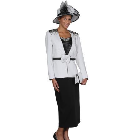 Womens 3 Piece Dress Combo Silver Dark Color Black
