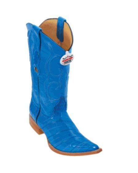 XXX Toe Blue Eel Boots