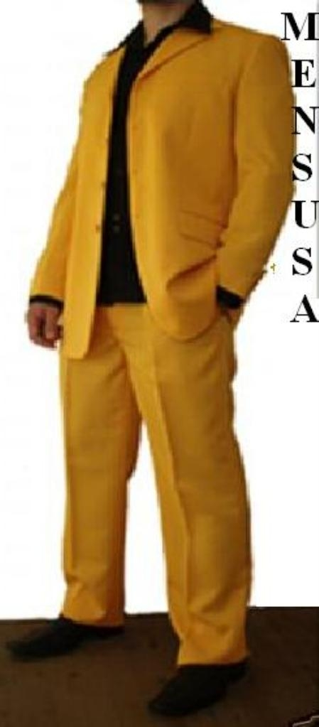 SKU# QLD316 Beautiful Mens Gold/Mustard/Yellow Fashion Dress With Nice Cut Smooth Soft Fabric $199
