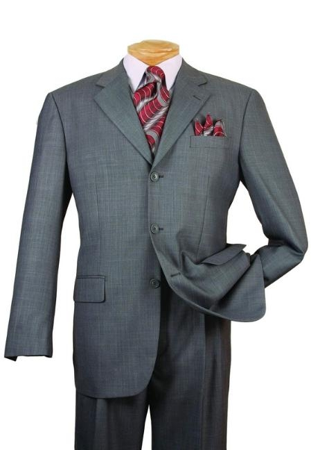 Men's Gray Single Breasted 3 Button affordable suit online ...