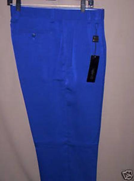 Royal Blue Wide Leg Dress Pants