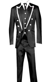 Piece Jacket+Trouser+Waistcoat Trimming Tailcoat