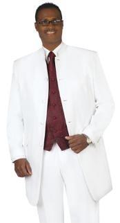 Black mandarin collar Suit