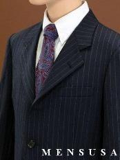 Boys Black Pinstripe Suits