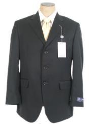 Black Super 140s Wool