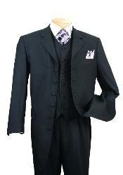 Long Solid Black Fashion