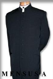 Distinctive Black Mandarin Collar