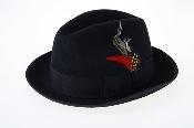 Black Wool Fedora