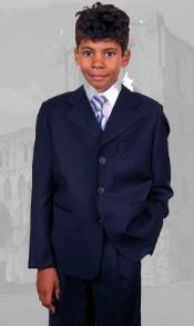 Navy Boys Dress Suit