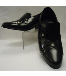Black Leather Cuban Heel