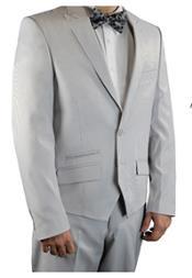 Grey Stripe 2 Button